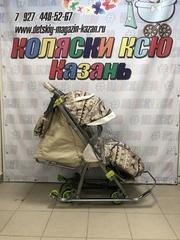 Санки коляска GALAXY KIDS 3-1 «скандинавская ночь»