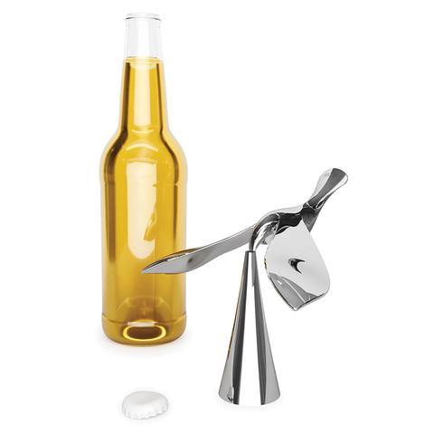 Открыватель для бутылок на подставке Tipsy хром