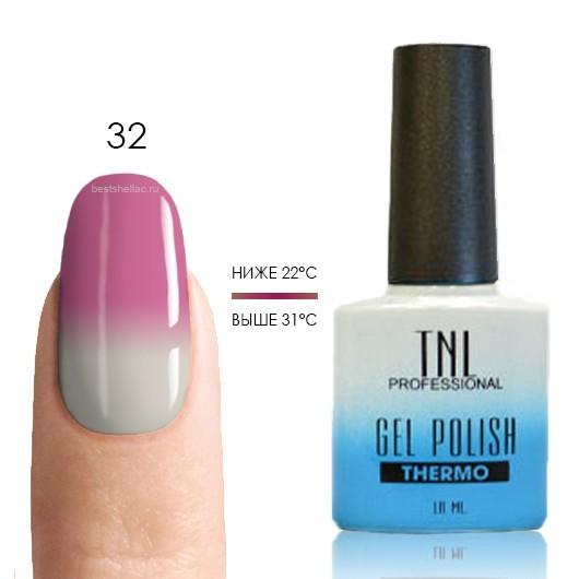 Термо TNL, Термо гель-лак № 32 - молочно-розовый/белый, 10 мл 32.jpg