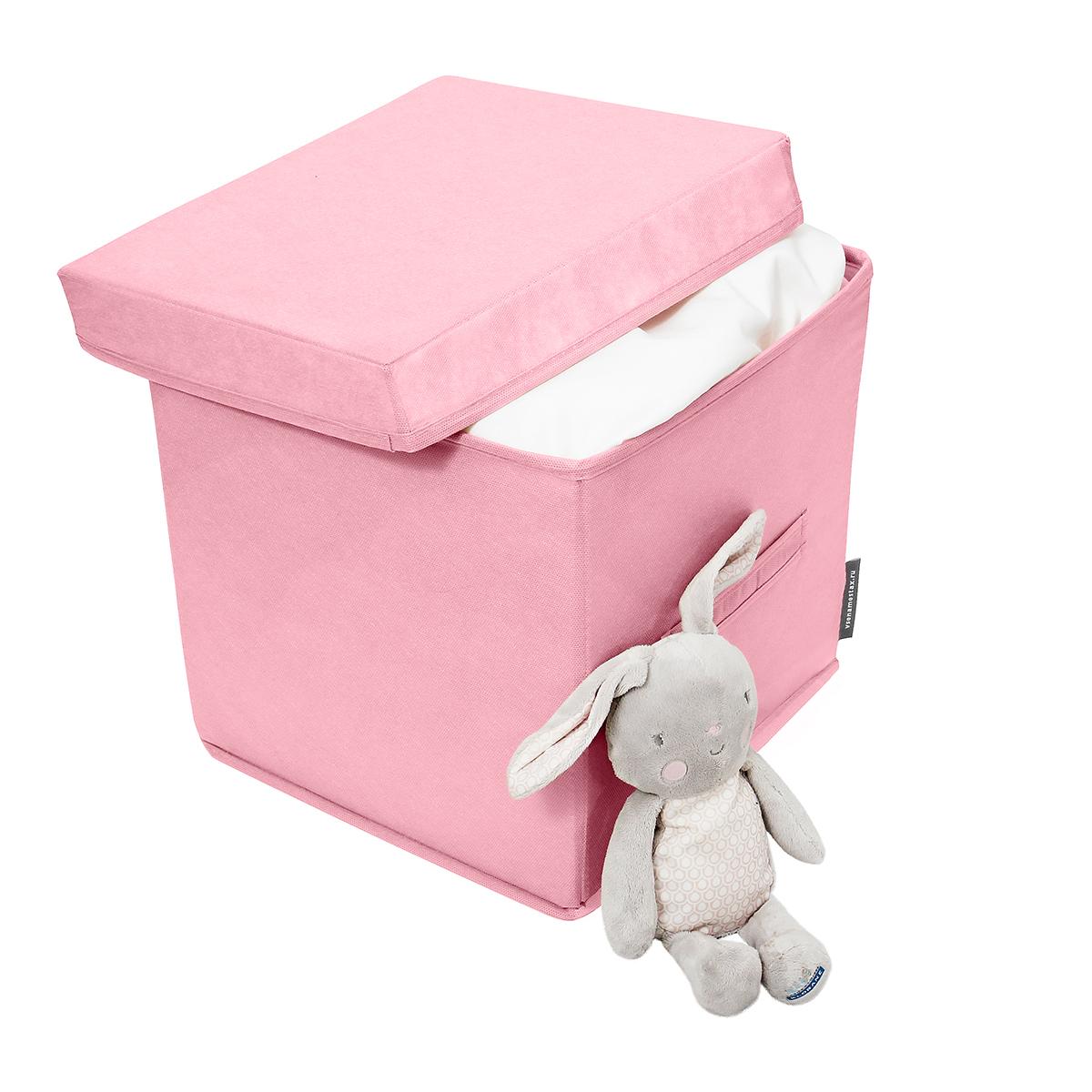 Коробка для вещей 30х30х30 см, с крышкой, 1 ячейка, Токио
