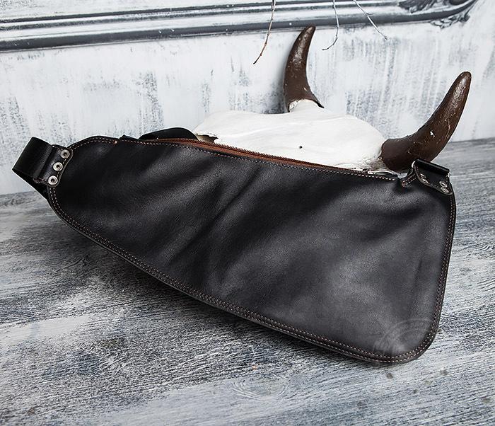 BAG415-1 Крутая мужская сумка рюкзак с одной лямкой, ручная работа фото 14