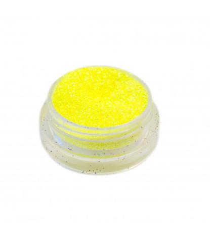Блестки 3 гр+ баночка неон желтые