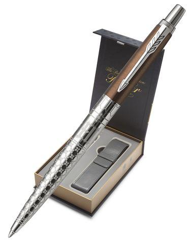 Подарочный набор с чехлом и Шариковая ручка Jotter K175 London Architecture Gothic Bronze123
