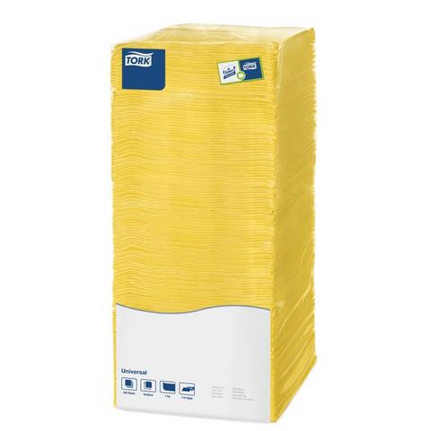 Салфетки бумажные Tork Big Pack 470116/478663 25x25 см желтые 1-слойные 500 штук в упаковке