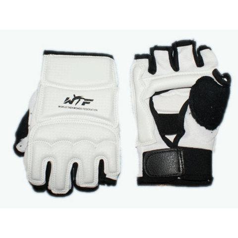 Перчатки для тхеквондо с напульсником на липучке. Размер S. (ZZT-004S)