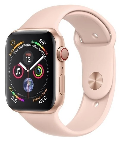 Watch S4 Cellular 44mm Rose Gold Stainless Steel Case with Sport Band