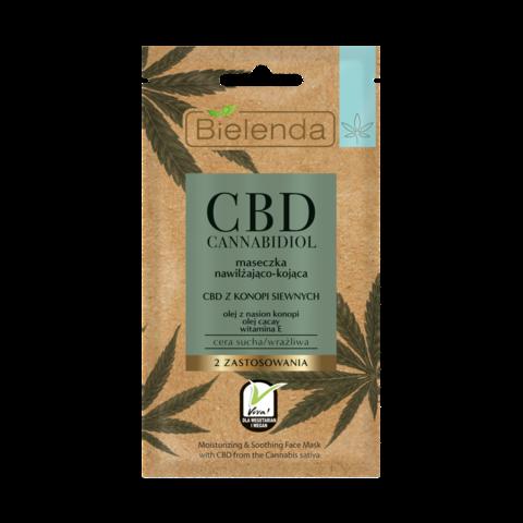 CBD Cannabidiol увлажняющая и успокаивающая маска с CBD из семян конопли для сух/чувст.кожи 18мл