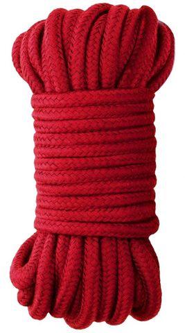 Красная веревка для бондажа Japanese Rope - 10 м.