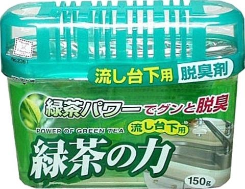 Дезодорант-поглотитель запаха, Kokubo, под раковину, зелёный чай, 150 г