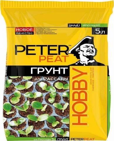 Грунт Peter Peat для рассады, линия Hobby, 5 л