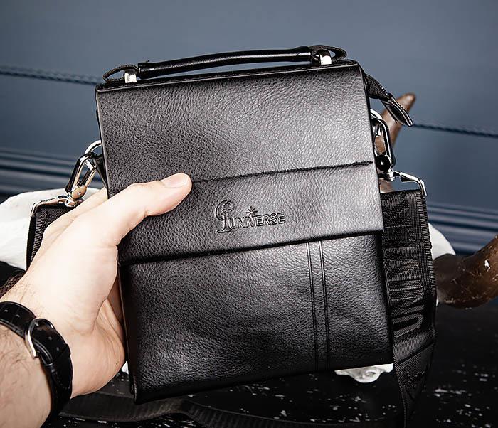 BAG560-1-3 Мужская кожаная сумочка с ручкой и ремнем фото 05