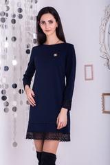 Шарлота. Красива сукня з мереживом. Синій