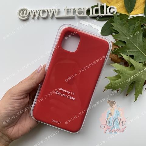Чехол iPhone 11 Silicone Case (product) /red/ красный original quality
