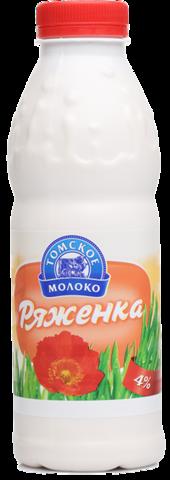 """Ряженка """"Томское молоко""""  4% 500г"""