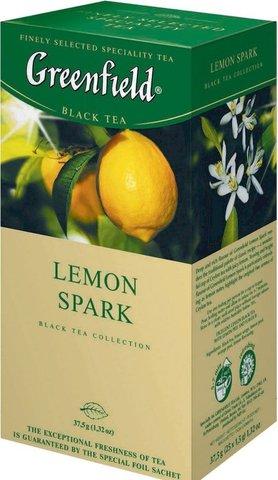 """Чай черный """"Greenfield"""" Lemon spark 25*2г"""