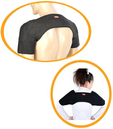 Согревающий наплечник с турмалином при болях и напряжении в шее и плечах