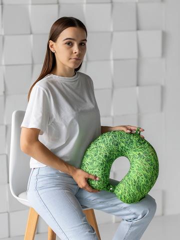 Подушка-подголовник «Трава», зеленая-2