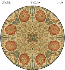 Эскиз для росписи, Круг диаметр-47,5см, SMAR-st-34