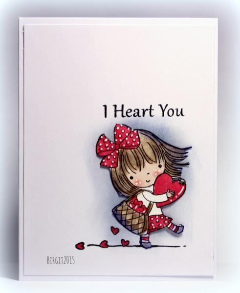 Набор штампов   I HEART YOU