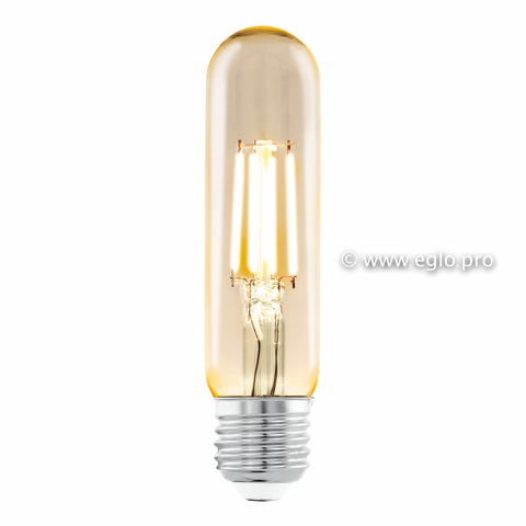 Лампа LED филаментная из стекла янтарного цвета Eglo AMBER LM-LED-E27 3,5W 220Lm 2200K T32 11554