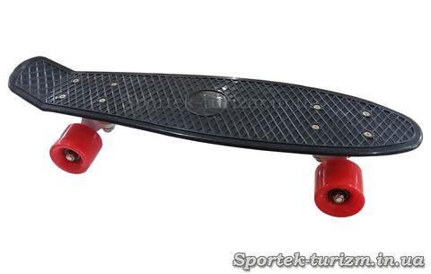 Penny Board чорний з червоними коліщатками