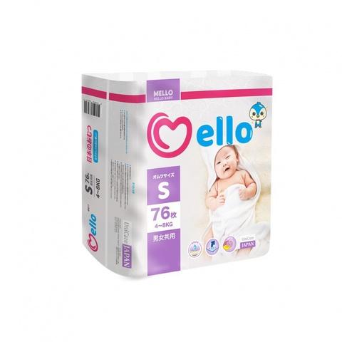 Подгузники Mello размер S (4-8 кг) 76 шт