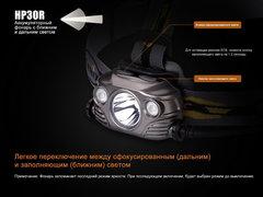 Фонарь налобный Fenix HP30R 1750lm аккумуляторный (серый)