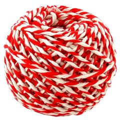 Шнур хлопковый бело-красный 2 нити / 50 м, 1000 Ктекс