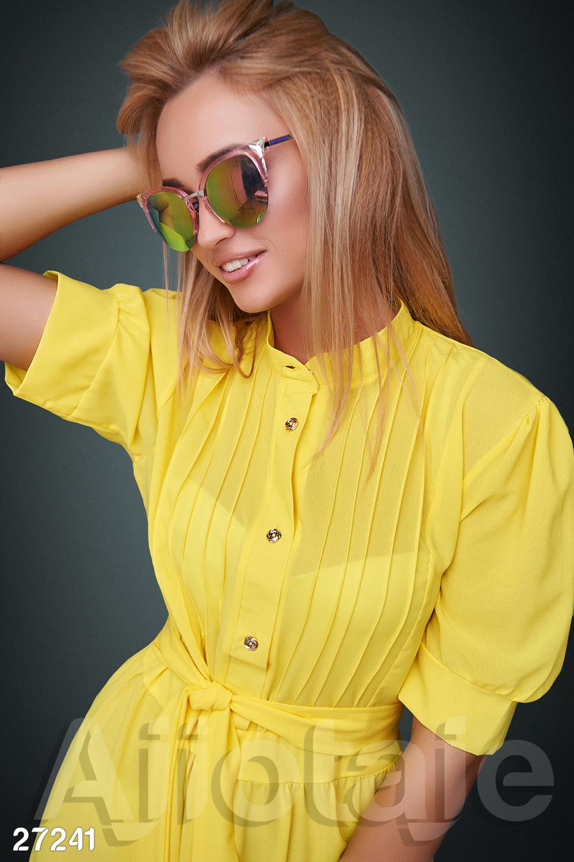 Платье желтого цвета в ретро стиле