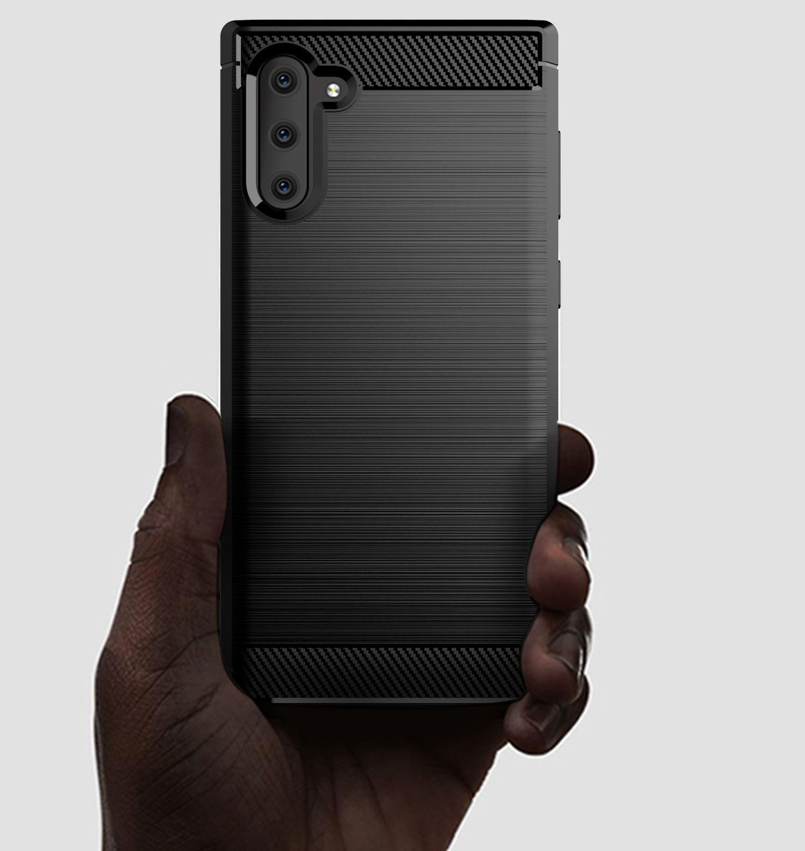 Чехол Samsung Galaxy Note 10 цвет Gray (серый), серия Carbon, Caseport