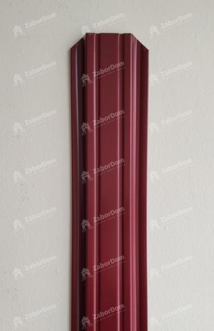 Евроштакетник металлический 85 мм RAL 3005 П-образный двусторонний 0.5 мм