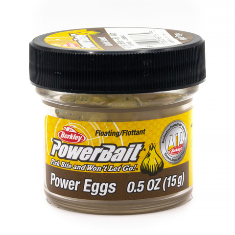 Приманка силиконовая Berkley Powerbait Floating Eggs Garlic White (1313115) Имитация икры плавающая
