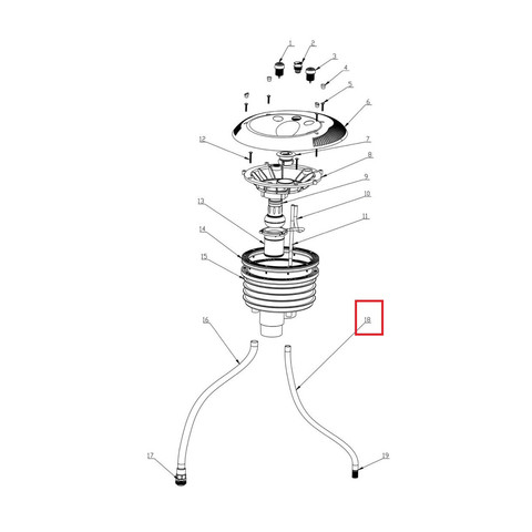Выпускной шланг Aquaviva 01151380 для закладной противотока EM0055 / 22137