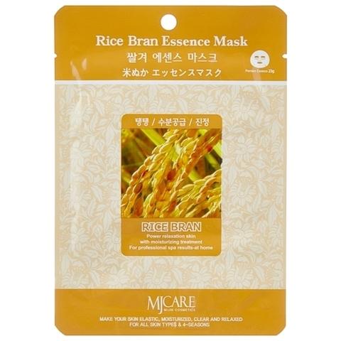 Mijin Тканевая маска с экстрактом рисовых отрубей MJ Care Rice Bran Essence Mask