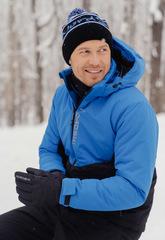 Утеплённая прогулочная лыжная куртка Nordski Montana Blue-Black мужская
