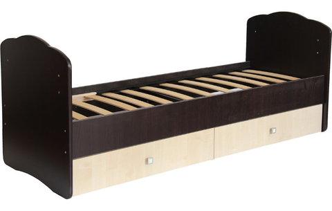 Кровать детская Фея 2100 венге-клён