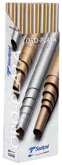 Набор бумаги Крафт Sadipal 60г/м.кв 1x3м серебро 50 рулонов в упаковке