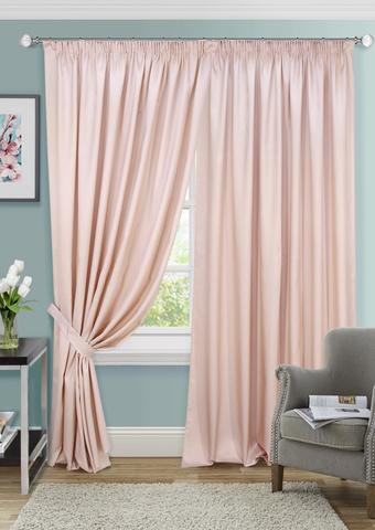 Комплект штор с подхватами Элегия жаккард розовый