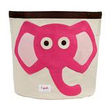 Корзина для хранения 3 Sprouts Слон (розовый)