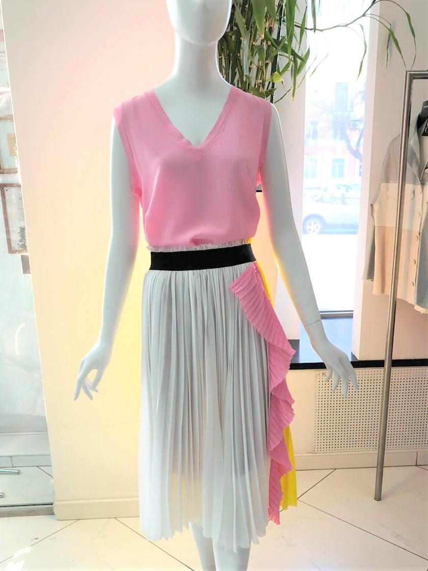 Nude Разноцветная юбка-плиссе