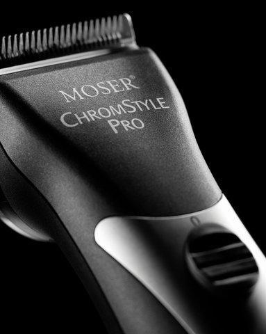 Машинка для стрижки Moser ChromStyle Pro, аккум/сетевая, 4 насадки, черная (1871-0081)