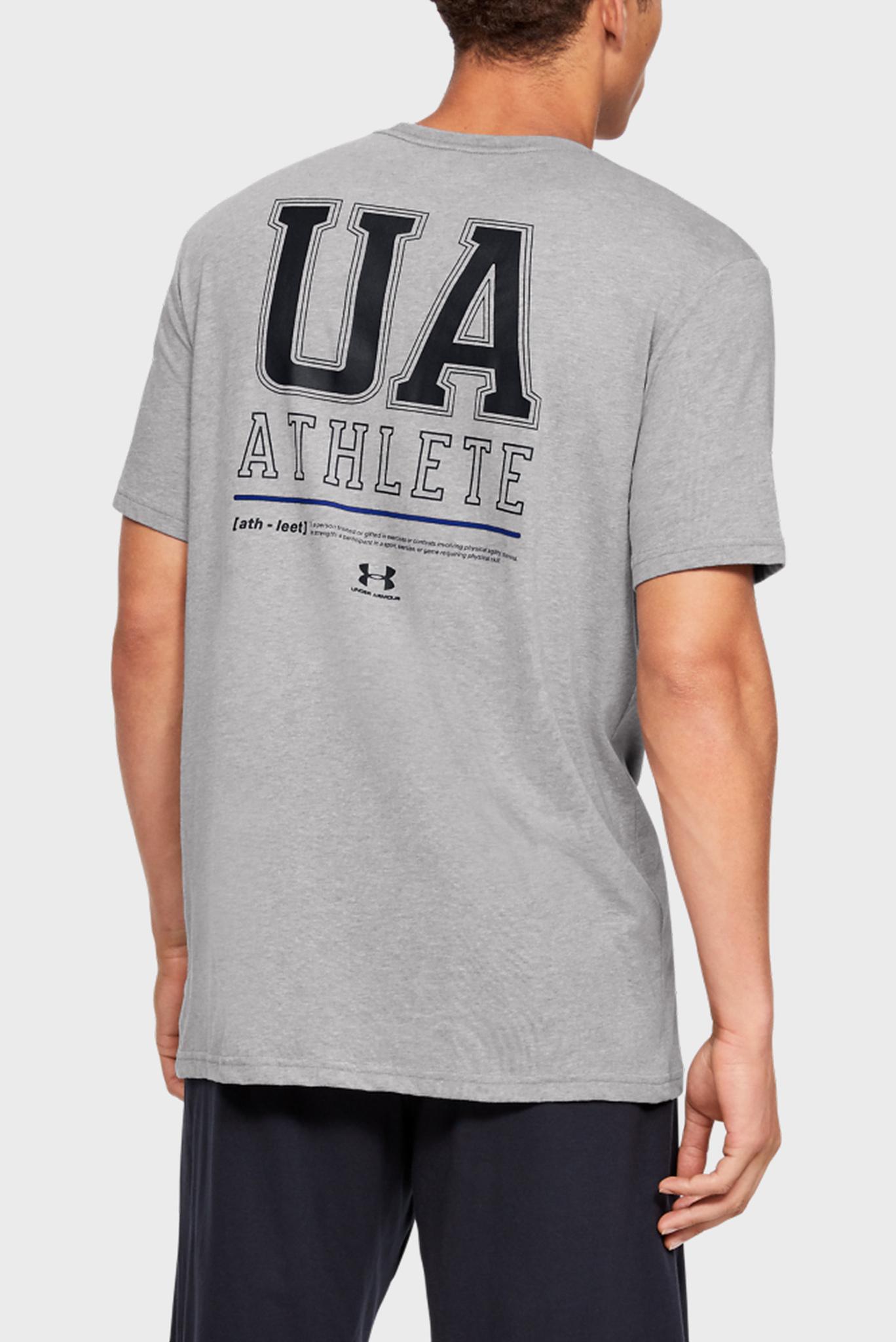Мужская серая спортивная футболка UA VERTICAL LEFT CHEST LOGO SS Under Armour