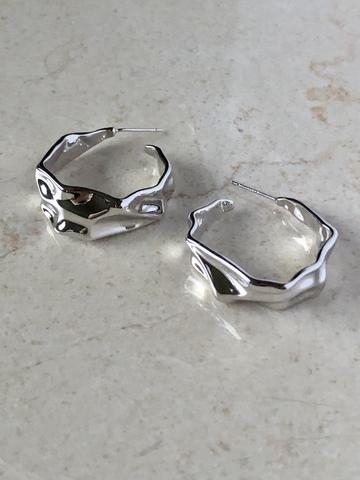 Серьги Авиор, серебряный цвет