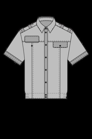 Рубашка с коротким рукавом для военнослужащих