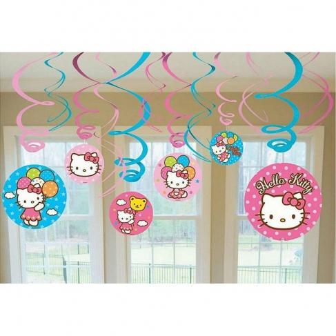Спираль Hello Kitty 46-60см 12шт