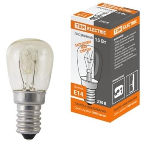 Лампа накаливания РН(ПШ)-230-15, 15 Вт, 230 В, Е14, к\коробка TDM