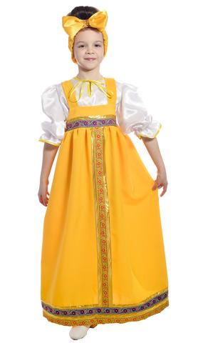 Костюм Барыня в жёлтом сарафане