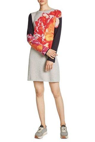 Платье серое с цветком Oui арт.63370