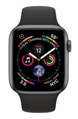 Watch S4 Cellular 44mm Space Grey Stainless Steel Case with Sport Band