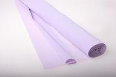 Бумага гофрированная простая светло-сиреневая (592), 50 см./250 см.